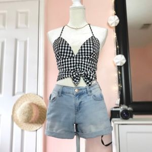 Tops - Going Gingham Top with Adjustable Straps